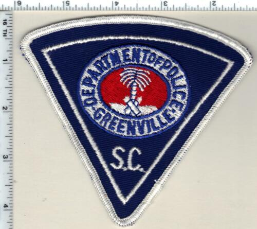 Greenville Police (South Carolina) Uniform Take-Off Shoulder Patch from 1989