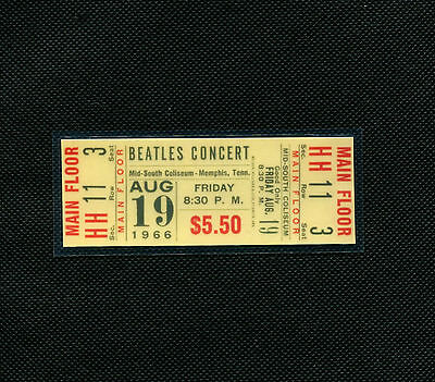The Beatles 1966 Concert Ticket Mid-South Coliseum Memphis, TN August 19, 1966 on Rummage