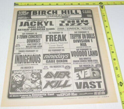 Thin Lizzy Hard Rock Concert AD Advert 2001 Tour Birch Hill Old Bridge NJ
