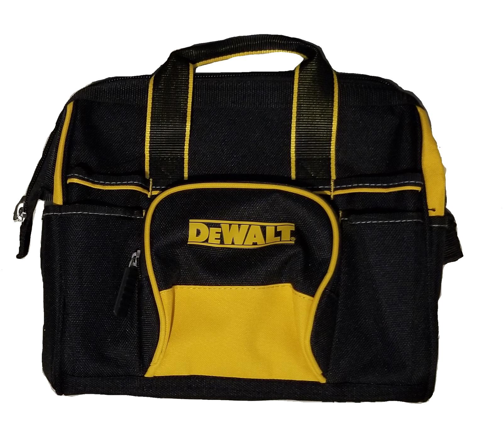NEW X4 DEWALT 12x10 18 Pocket Heavy Duty Nylon Canvas Contractor Tool Bag