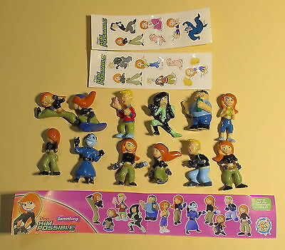 Bip- Kim  Possible Fremdfiguren  kompletter Satz mit 2 Sticker und 1 BPZ