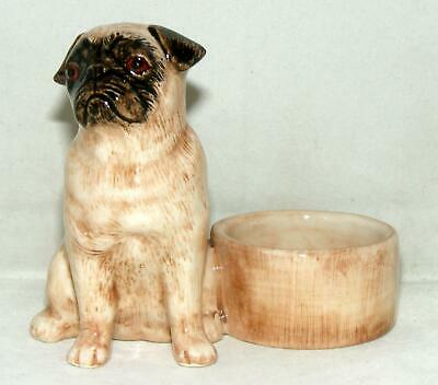 Quail Ceramics Animal Tealight Holder Pug Fawn 895