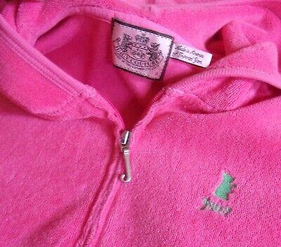 Juicy Couture-Hooded Jacket/Hoodie-Girls' 8-Long Sleeve-Classic Terry-Full Zip ()
