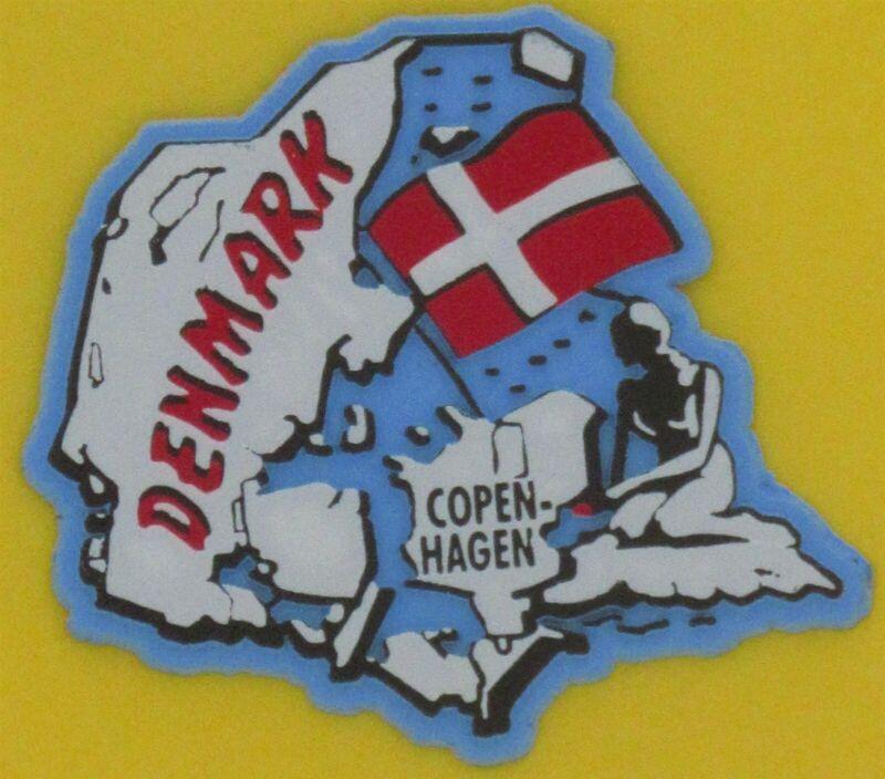 NEW ODIN LTD SCANDINAVIAN DANISH COUNTRY SHAPED MAGNET FLAG DENMARK