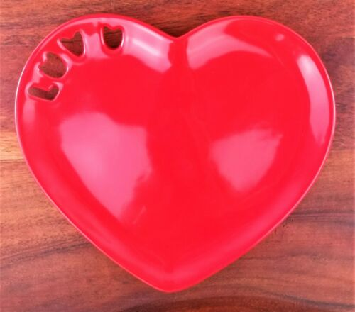 Department56 Valentines Day Red LOVE Ceramic Candy Dish Trinket Dish