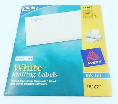 800 Avery 816751675267596718167 Return Address Shipping Labels 12 X 1 34