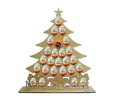 Christmas Advent Tree Holds Terry Chocolate Orange & Kinder Egg Advent Calendar