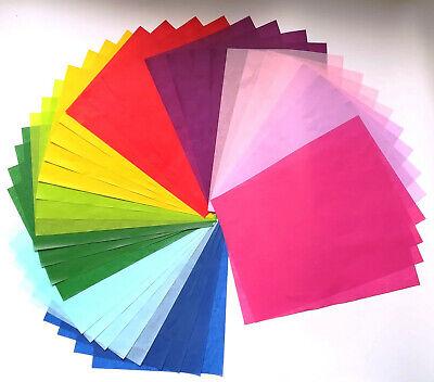 40 Sheets asstd Colors  A4 A5 Rainbow Tissue Paper Kids Activity Art& Crafts Set