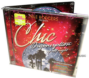 CHIC Nile Rogers CD x 2 Up All Night THE GREATEST HITS Organisation DISCO Edn.