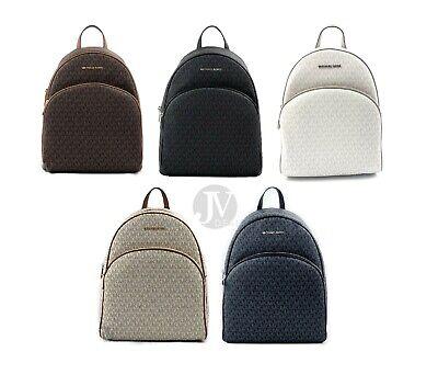 Michael Kors  Large Abbey Signature PVC Backpack Bag