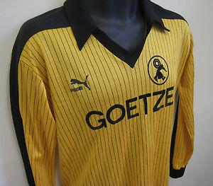 Vtg-PUMA-80s-Football-Shirt-BV-BURSCHEID-Retro-Soccer-Jersey-Trikot-Maglia-S