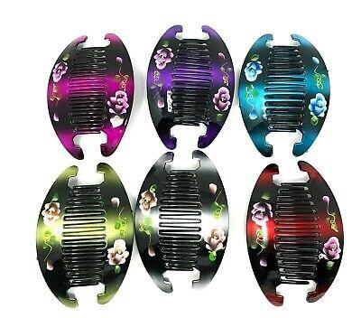 - 3set (6pcs) Jumbo Banana Comb Clip Thick Hair Riser Claw Interlocking Jaw Clips