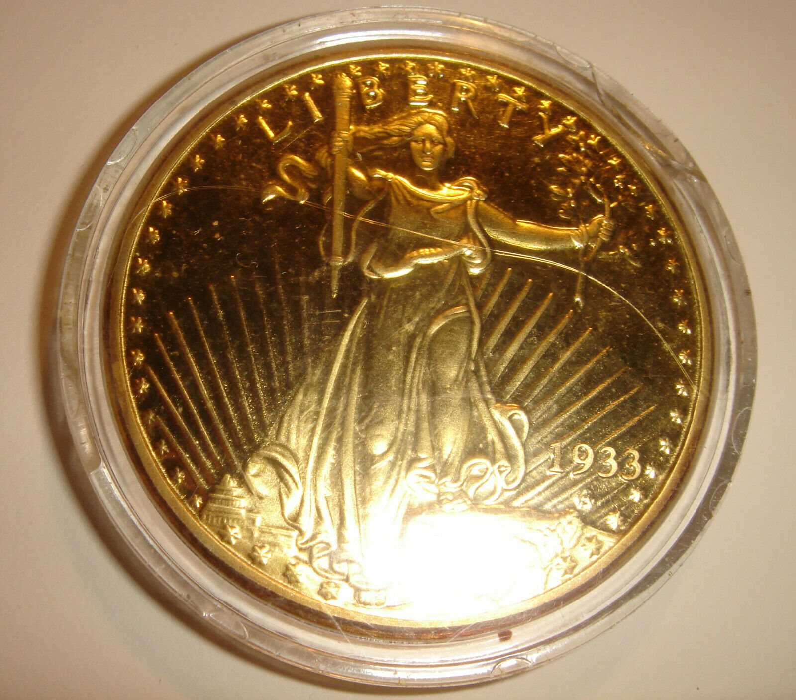 1933 LIBERTY AMERICAN GOLD EAGLE COIN SERIAL QJ0072 - $10.00