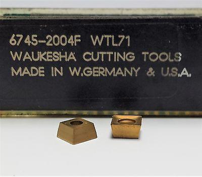 Lot Of 29 Waukesha 6745-2004f Tin Coated Carbide Inserts Wtl71