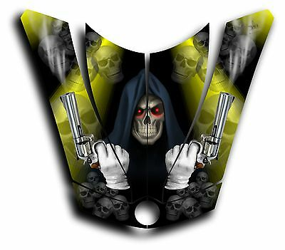 CAN-AM SPYDER RS GS HOOD DECAL GRAPHICS GRIM REAPER REVENGE YELLOW
