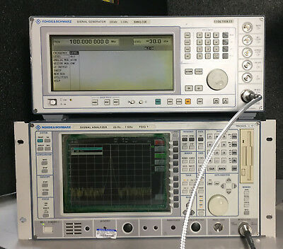Rohde And Schwarz Smiq03e 300khz - 3.3ghz Signal Generator Sm-b1