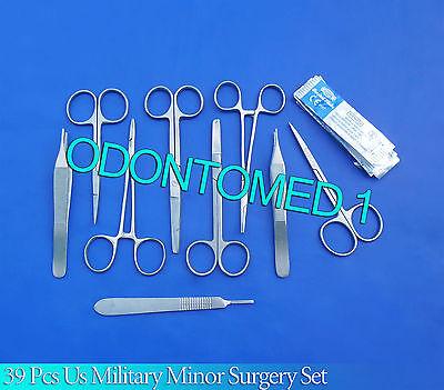 39 Pcs O.r Grade Us Military Minor Surgery Suture Set Kit