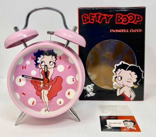 Betty Boop TwinBell Pink Alarm Clock 512310
