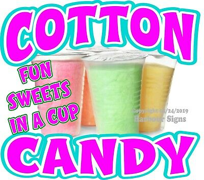 Cotton Candy Decal Choose Your Size Concession Food Truck Vinyl Sign Sticker