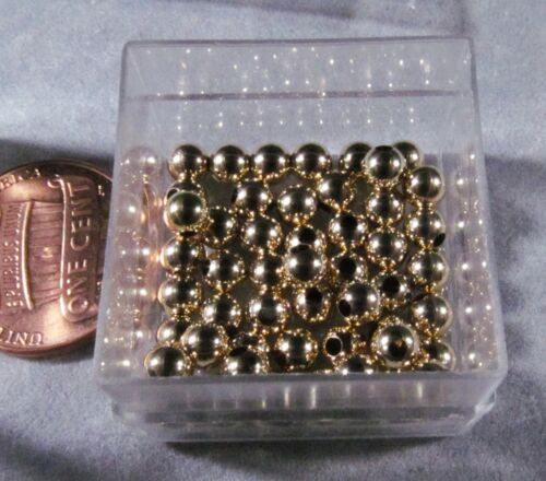 Gold Filled 4mm Round Smooth Beads, 20 pc Heavy wall Made in the USA