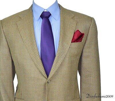Hickey Freeman Houndstooth Blazer Men's Wool Sport Coat Jacket Size 44-Short