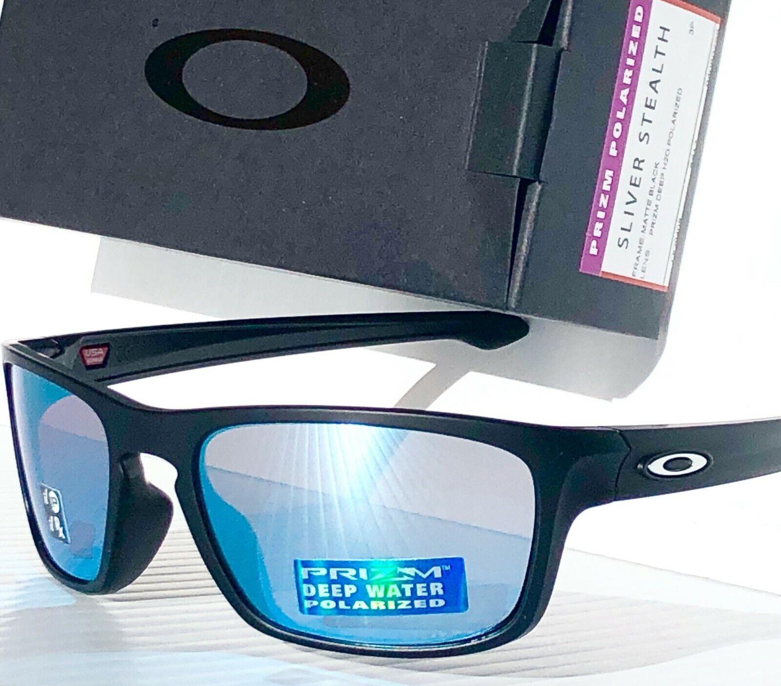 NEW* Oakley SLIVER STEALTH Black POLARIZED Deep Water PRIZM Sunglass H2O 9408-07