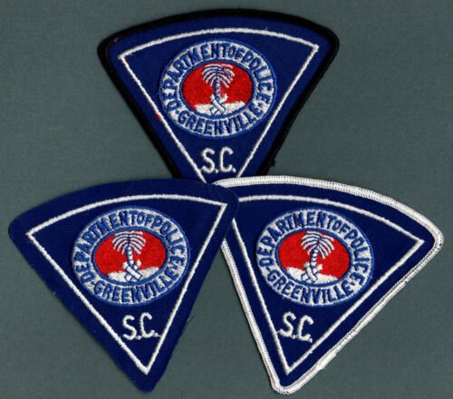 Greenville South Carolina Police Patch - Set of 3