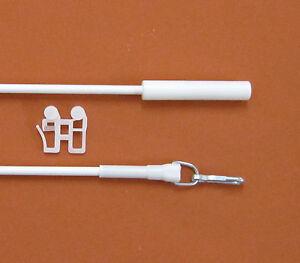 4x Schleuderstab weiß 100cm lang Schleuderstange Schleuderstäbe Gardinenzubehör