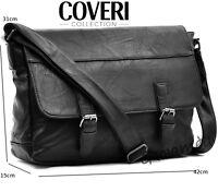 Borsa COVERI Uomo Vintage pelle Cuoio Tracolla Messanger Uomo pc ipad GRANDE c12d5537a3e