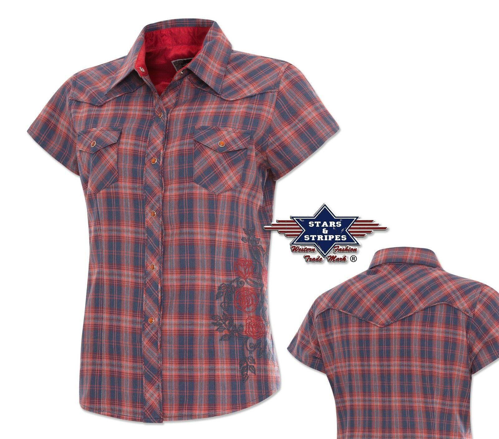"""Western-Bluse """"Sedona"""" / Karobluse / Show-Shirt mit Stickerei     *** SALE ***"""