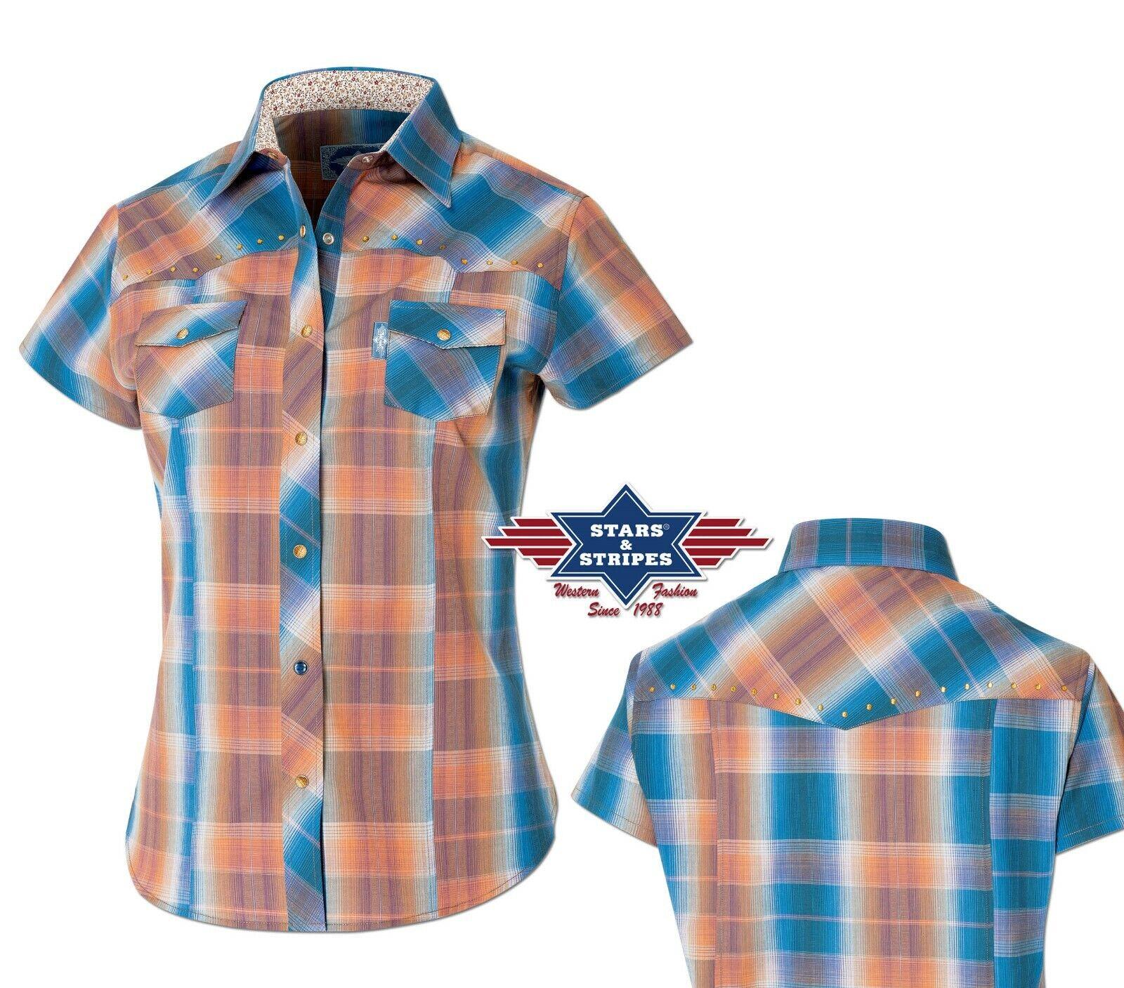 """Western-Bluse """"Dahlia"""" / Karobluse / Show-Shirt mit Strass - NEU!   *** SALE ***"""