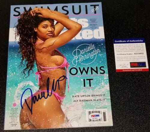 Danielle Herrington Signed Sports Illustrated Swim Suit Edition Autographed PSA