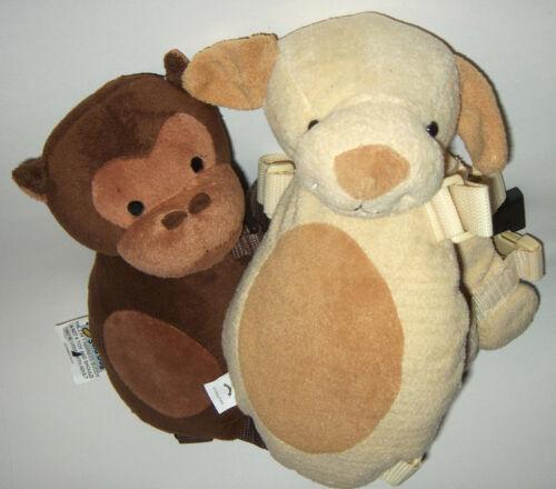 Gold Bug Harness Buddy Brown Monkey Child Safety Harness & Beige Puppy  NO strap