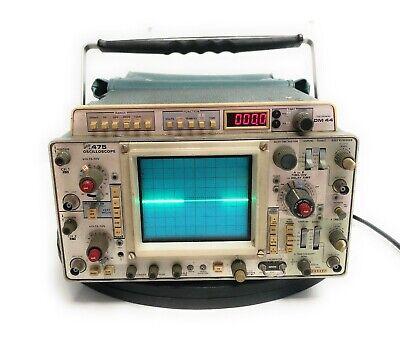 Vintage Tektronix 475 Dual Channel Oscilloscope 200mhz Opt 1 W Dm 44 Multimeter