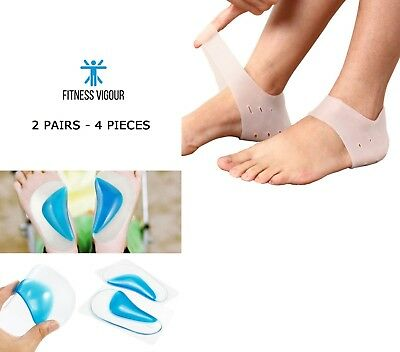 Best Insoles Arch Supports Soft Gel Heel Sleeves Planter Feet 2 Pair UK SELLER