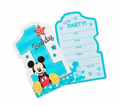 MICKEY MOUSE Fun to Be One INVITATIONS (8) ~Birthday Party Supplies Invites Card - Mickey Mouse Birthday Party Invitations