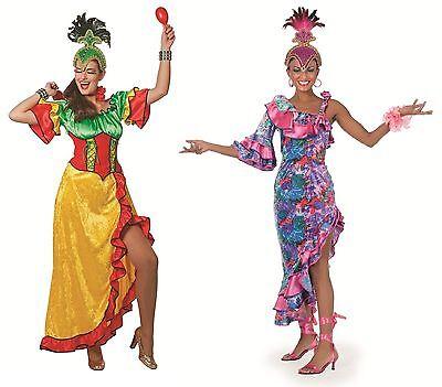 Flamenco Kleid Kostüme (Flamenco Kostüm Kleid Party Spanierin Tanz Samba Spanier Hawaii Salsa Disco Rio)