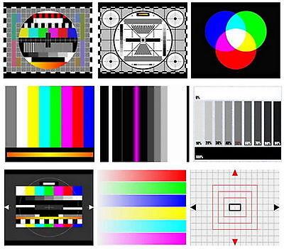 TV Test Card / Video Pattern Generator & Test Tones DVD: AV Systems PAL &  NTSC