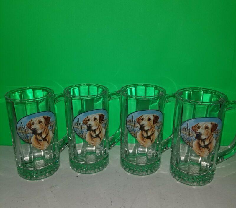 """Labrador Retriever on 5.5"""" Glasses - Set of 4"""