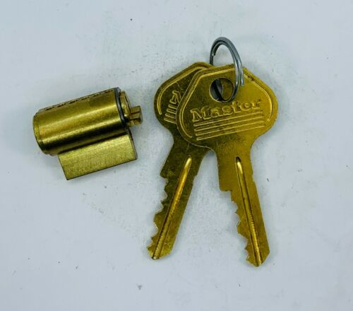 Master Lock re-keyable Padlock Cylinders with 2 keys each M25 6000B Keyway