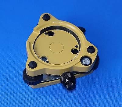 New Three-jaw Yellow Tribrach With Optical Plummet For Topcon Sokkia Pentax