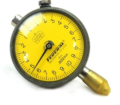 Mahr Federal P1l Dial Indicator .500mm Range .002mm Grad. Dial Style 0-10-0