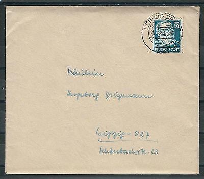 DDR/SBZ Mi.Nr. 218 auf Ortsbrief Leipzig 20.1.53