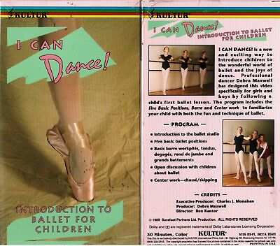 I Can Dance Introduction to Ballet for Children VHS Video Tape New ()