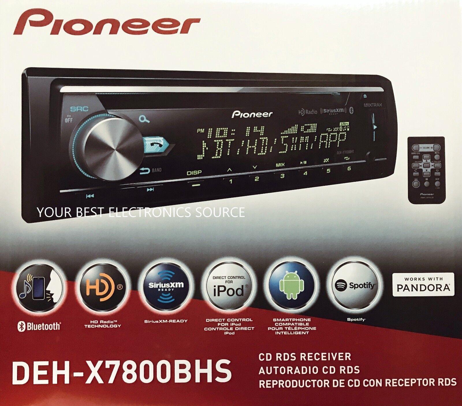 $118.79 - NEW Pioneer DEH-X7800BHS Single DIN In-Dash CD/AM/FM w/ Bluetooth & HD Radio