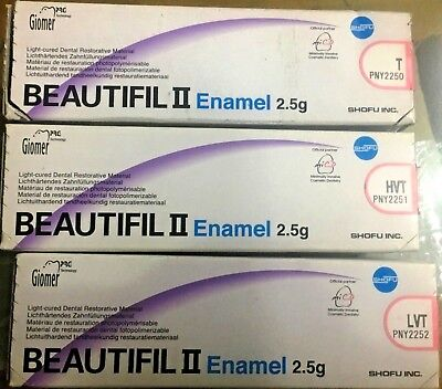 Shofu Beautifil Enamel Shades Light Cured Dental Restorative Composite
