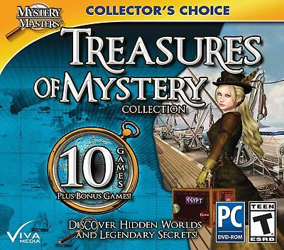 Computer Games - Treasures Of Mystery Collection PC Games Window 10 8 7 XP Computer hidden object