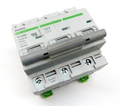 100 Amp Noark 3 Pole Din Rail Mcb Circuit Breaker Ul 1077 230 240 480 Volt 100a