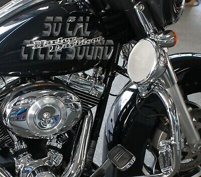 Marine Rated 5.25in Chrome Motorcycle Speakers - Non-Amplified - 1 1/4 in Clamps