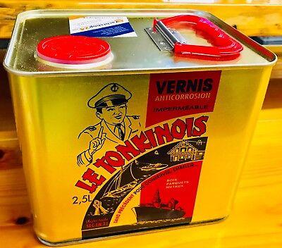 (22,36 €/ L) Le tonkinois 2,5L YACHT VERNICE PER BARCA leinöl-lack bio-lack
